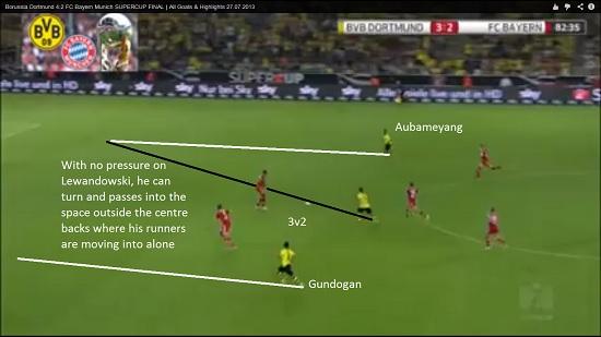 Bayern v Dortmund 10